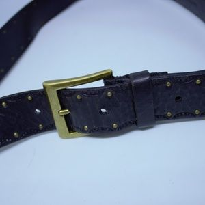 Amanda Smith Women's Black Leather Belt Studs XL